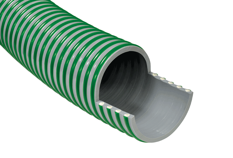 Super Elastic Medium Duty Suction & Delivery Hose with External Scuff Strip