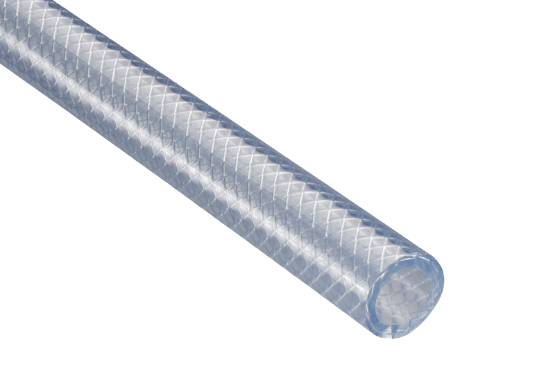 Lightweight Clear Braided PVC Hose